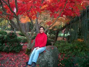 [Louise in Lithia Park]